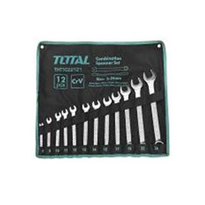 Bộ cờ lê vòng miệng 12 chi tiết Total THT1022121 6-24mm