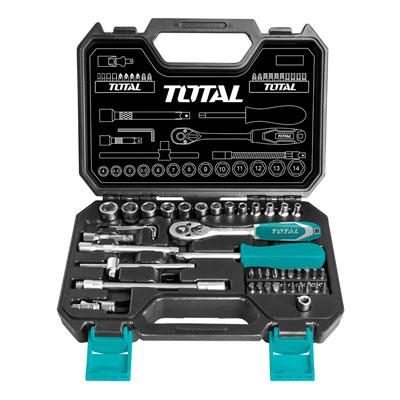 Bộ tuýp 1/4' 45 chi tiết Total THT141451 4-14mm