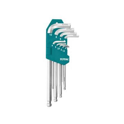 Bộ lục giác đầu bằng 9 chi tiết hệ mét Total THT106191 1.5-10mm