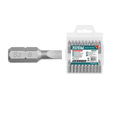 Bộ mũi vít dẹp 10 chi tiết Total TAC16SL423