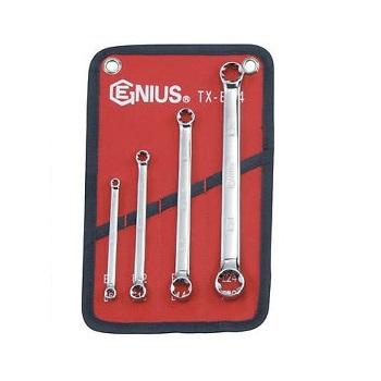 Bộ cờ lê hai đầu tròng sao loại bóng 4 chiếc Genius  TX-E04
