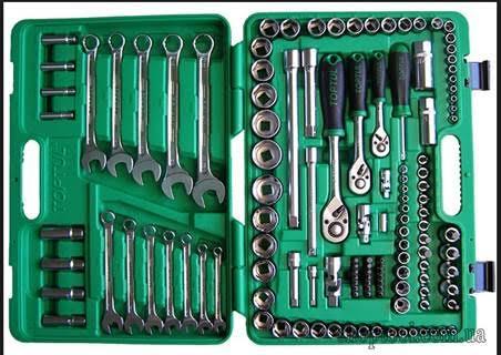 Bộ khóa, tuýp đầu 1/4', 3/8' & 1/2' 130 chi tiết (hộp nhựa) GCAI130B