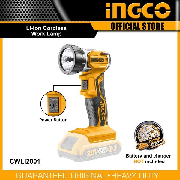 Đèn làm việc dùng pin Lithium Ingco CWLI2001 (20V) (Chưa Pin & Sạc)