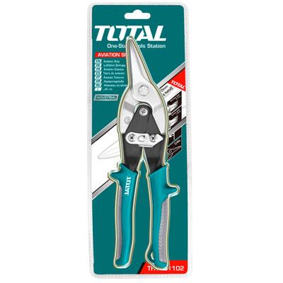 Kéo cắt tôn mũi cong phải Total THT523106 10'
