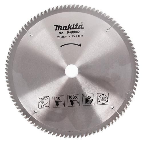 Lưỡi cắt nhôm hợp kim 100 răng Makita P-68002 (255 x 25.4 x 100T)