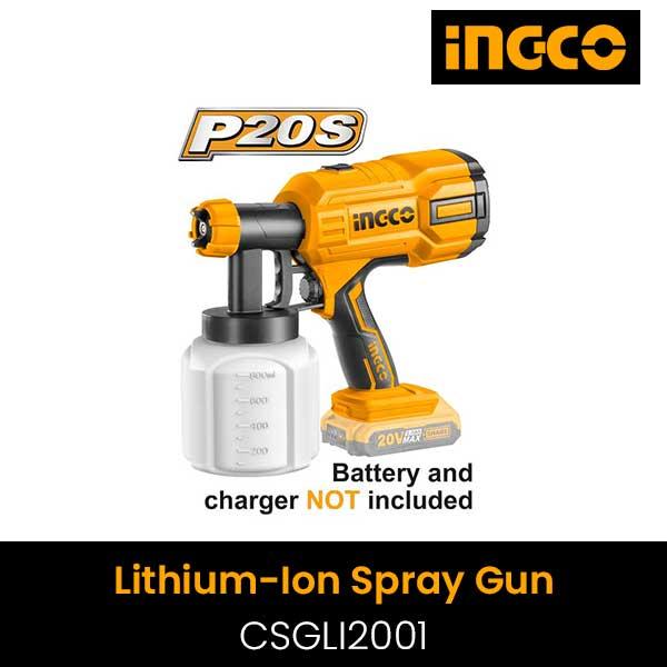 Súng phun sơn dùng pin Lithium Ingco CSGLI2001 (20V) (Chưa Pin & Sạc)