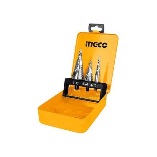 Bộ 3 mũi khoan chóp nón Ingco AKSDS0302
