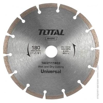 Đĩa cắt gạch khô Total TAC2111803 180x22mm
