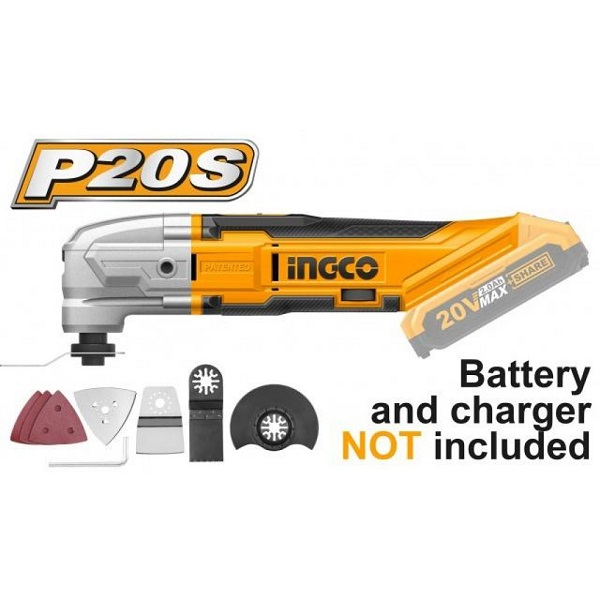 Máy cắt góc đa năng dùng pin Lithium-Ion Ingco CMLI2001 (20V) (Chưa Pin & Sạc)